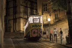 Elevador da Gloria, Lisbona Fotografia Stock