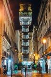 Elevador de圣诞老人Justa -里斯本,葡萄牙 免版税库存图片