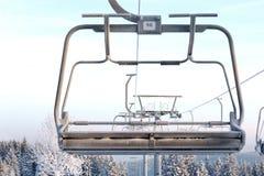 Elevador de cadeira do esqui Imagem de Stock