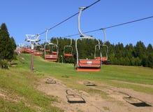Elevador de cadeira do esqui Imagem de Stock Royalty Free