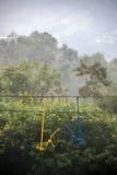 Elevador de cadeira perto de Manizales, Colômbia Foto de Stock Royalty Free