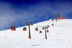 Elevador de esqui de Áustria imagens de stock royalty free