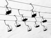 Elevador de esqui imagens de stock royalty free