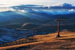 Elevador de esqui Fotografia de Stock