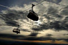 Elevador de esqui da cadeira Imagens de Stock Royalty Free