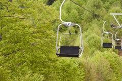 Elevador de esqui da telecadeira Fotografia de Stock Royalty Free