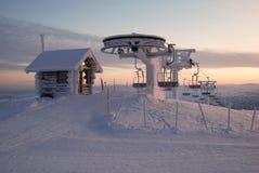 Elevador de esqui de Lapland Fotos de Stock Royalty Free