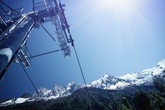 Elevador de esqui em Chamonix Imagens de Stock Royalty Free