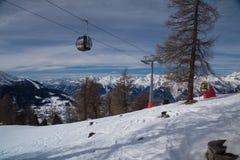 Elevador de esqui em Veysonnaz Imagem de Stock Royalty Free