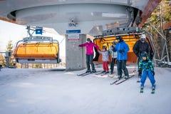 Elevador de esqui no recurso de Karpacz Fotos de Stock