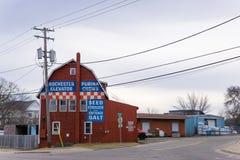 Elevador de grão de Rochester imagens de stock