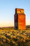 Elevador de grano abandonado largo Fotografía de archivo