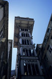 Elevador de Santa Justa. In the heart of the city of Lisboa, Portugalia stock image