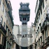 Elevador de Santa Justa in the centre of Lisbon, Portugal Royalty Free Stock Photography