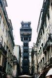 Elevador De Santa Justa in der Mitte von Lissabon, Portugal stockfoto
