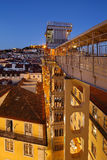 Elevador de Santa Justa em Lisboa Imagens de Stock Royalty Free