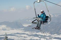 Elevador del esquí Imagenes de archivo