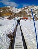 Elevador del esquí imagen de archivo libre de regalías