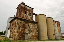 Elevador e silos de grão Imagens de Stock