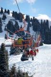 Elevador en estación de esquí Imagen de archivo libre de regalías