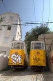 Elevador hace Lavra, Lisboa, Portugal Imagenes de archivo
