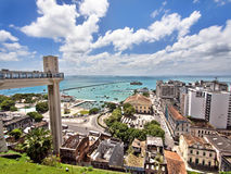 The Elevador Lacerda and All Saints Bay, Salvador, Stock Photography
