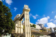 Elevador Lacerda elevator is one of the most famous landmarks in Royalty Free Stock Photo