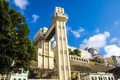 Elevador Lacerda elevator is one of the most famous landmarks in Stock Photography