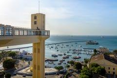 Elevador Lacerda Lacerda Elevator and Mercado Modelo - Salvador, Bahia, Brazil Royalty Free Stock Photo