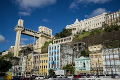 Elevador Lacerda, Salvador, Bahia, Brazilië royalty-vrije stock afbeeldingen