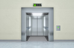 Elevador moderno com portas abertas Imagem de Stock Royalty Free