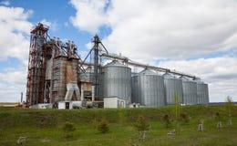 Elevador rural en campo en Rusia Foto de archivo