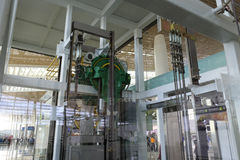 Elevador transparente t4 del terminal, ciudad amoy, China Fotografía de archivo libre de regalías
