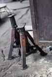 Elevador velho do carro de Jack Foto de Stock Royalty Free