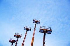 Elevadores e céu azul Imagens de Stock