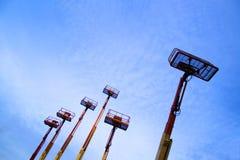 Elevadores e céu azul 2 Foto de Stock Royalty Free