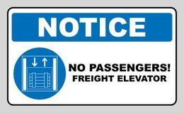 Elevadores e elevadores de frete do símbolo somente, ilustração isolada no branco Símbolo imperativo azul Pictograma simples bran ilustração do vetor