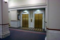 Elevadores en pasillo Imagen de archivo libre de regalías