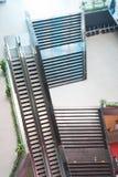 Elevadores y escaleras Foto de archivo libre de regalías