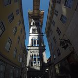 elevadorjusta santa royaltyfri fotografi