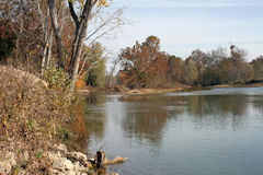 Elevan Point River. Eleven Point River FootHills of the Ozarks Royalty Free Stock Image