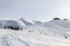 Elevata altitudine Ski Domain Fotografia Stock Libera da Diritti