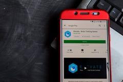 Elevate - Brain Training Games dev app on Smartphone screen. BEKASI, WEST JAVA, INDONESIA. SEPTEMBER 21, 2018 : Elevate - Brain Training Games dev app on royalty free stock images