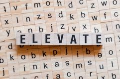 Elevate word concept stock photos