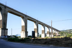 Elevated Concrete Train Bridge Royalty Free Stock Photography