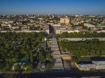 Elevated drone image of the Potemkin Stairs  Odessa Royalty Free Stock Photos