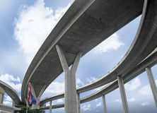 Elevated expressway. Royalty Free Stock Images