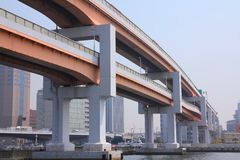 Elevated expressways Royalty Free Stock Photo