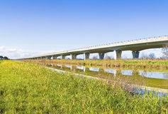 Elevated highway built built along a river Stock Photography