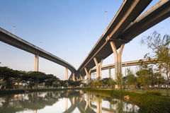 Elevated highway. On the park Royalty Free Stock Photo